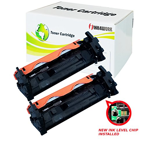 INK4WORK Compatible [with Chip] Replacement for HP CF217A 17A Toner Cartridge for Laserjet Pro M102a M102w M130a M130fn M130fw M130nw (Black, 2-Pack)
