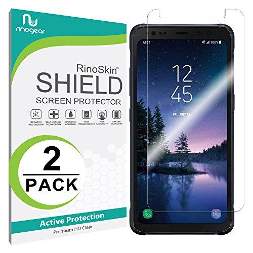 [2-PACK] Galaxy S8 ACTIVE Screen Protector (Edge-to-Edge) [Military-Grade] RinoGear Premium HD Invisible Clear Shield Anti-Bubble
