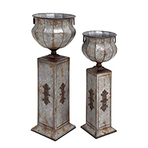 Studio 350 34-inch Metal Pedestal Urn (Set of 2)