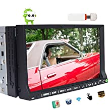 3G Dongle Included 2DIN Android 6.0 EinCar Car stereo In Dash 7 inch DVD Player 1080P Video Display GPS Navigation 3D Map MirrorLink Car PC Monitor support Bluetooth/USB/OBD2/SD/3G/4G/WIFI