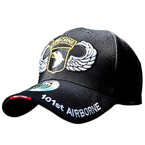 HANWILD Vintage 101th Airborne Insignia Baseball Hat Embroidered Adjustable Cap