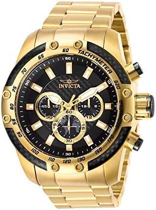 Invicta Men s Speedway Quartz Watch with Stainless-Steel Strap, Gold, 26 Model 28658