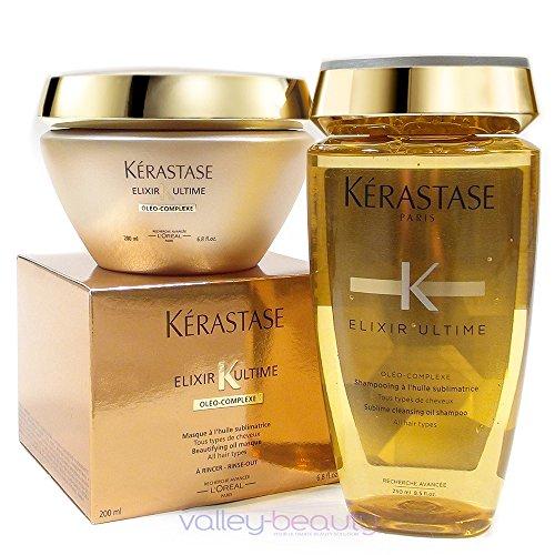 - Kerastase Elixir Ultime Huile Lavante Bain (250Ml) And Beautifying Masque (200Ml) Duo Bundle