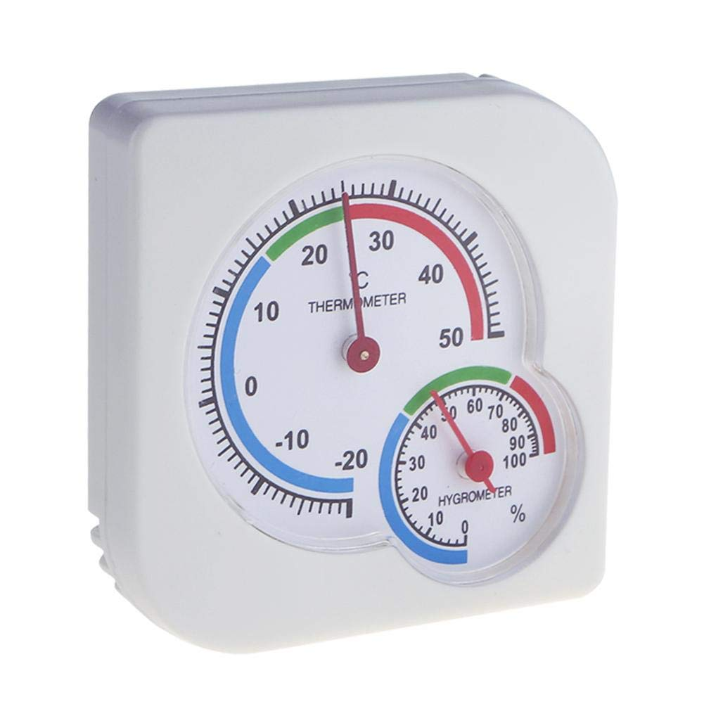 Starnearby Indoor Outdoor -20~50℃ 0-100% RH Precision Pointer Hygrometer Thermometer Humidity Gauge