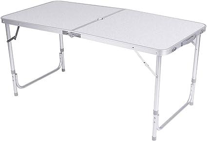 Zerone - Mesa de camping plegable portátil de aluminio, mesa ...