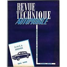 Revue Technique Automobile : Simca Aronde, tous types 1951 à 1958