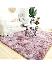 Modern Shaggy Rugs Fluffy Soft Touch Dazzle Sparkle Area Rug Carpet Large for Living Room Bedroom Floor Mat (Cute Pink,140 x 200cm)
