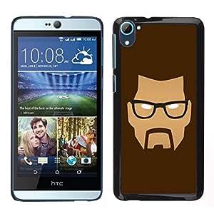 Caucho caso de Shell duro de la cubierta de accesorios de protección BY RAYDREAMMM - HTC Desire D826 - Cara enojada