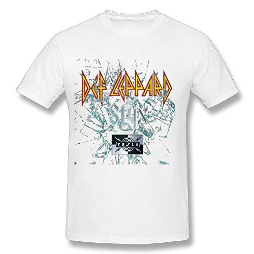 Styx Def Leppard Tesla Tour 2016 T Shirt For Men White L