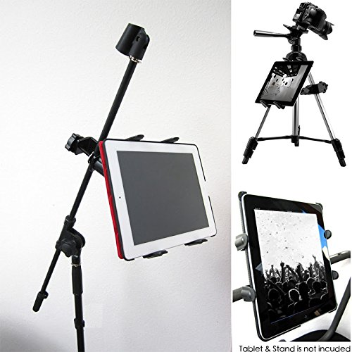 ChargerCity Music Mic Microphone Stand Tablet Mount with 360° Swivel Adjust Holder for Apple iPad Pro Air Mini Google Nexus Samsung Galaxy Tab Surface Pro/Book (iPad & Stand is not included)