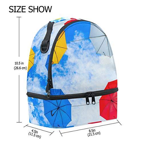 The Alinlo con almuerzo ajustable paraguas Bolsa y pincnic la para de correa de escuela Clouds Hqwrqdf