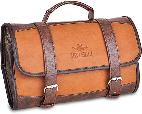 Vetelli Hanging Toiletry Bag for Men – Dopp Kit Travel Accessories Bag Great Gift