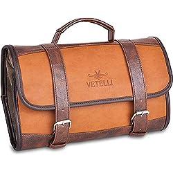 Vetelli Hanging Toiletry Bag for Men - Dopp Kit/Travel Accessories Bag/Great Gift