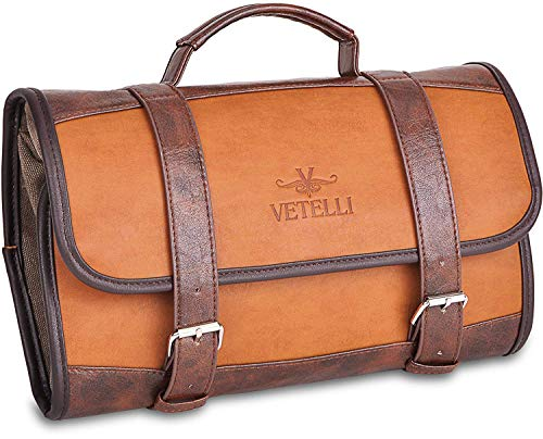 (Vetelli Hanging Toiletry Bag for Men - Dopp Kit/Travel Accessories Bag/Great Gift)
