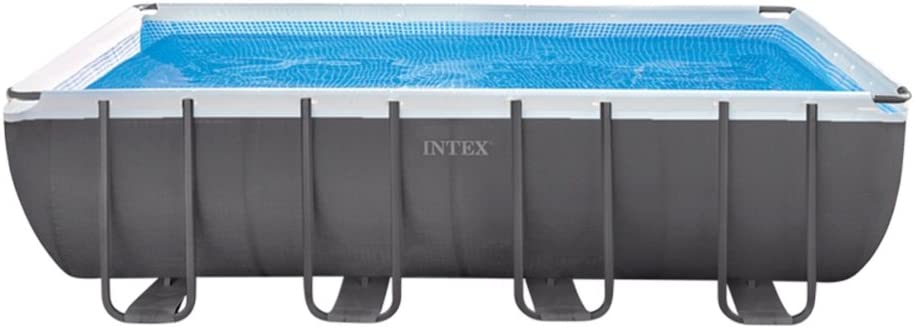 Intex Ultra Frame Piscina Desmontable, 17.203 litros, Gris, 549 x 274 x 132 cm