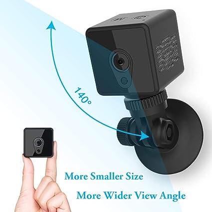 Mini cámara espía oculta, cámara de acción portátil inalámbrica Mica House HD 1080P / detección