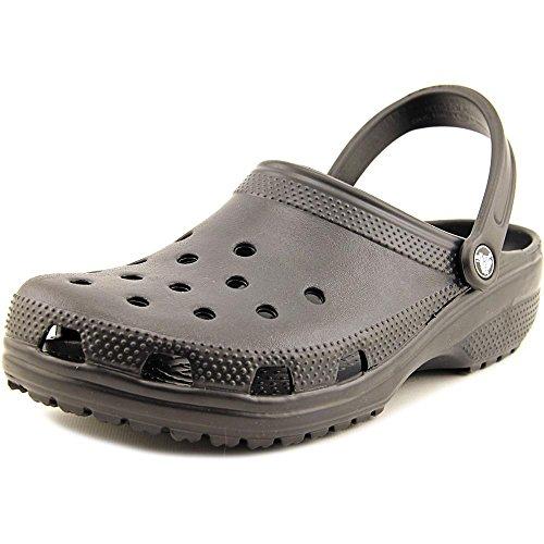 Crocs Mens Classic Clog, Black, M12