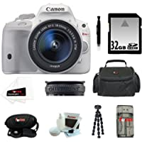 Canon EOS Rebel SL1 DSLR Camera with EF-S 18-55mm f/3.5-5.6 IS STM Lens (White) with 32GB Accessory Kit Basic Intro Review Image