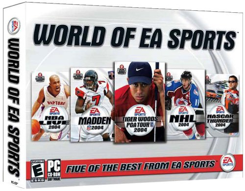 The World of EA Sports (NBA Live 2004, Madden 2004, Tiger Woods PGA Tour 2004, NHL 2004, Nascar Thunder 2004) by EA Sports