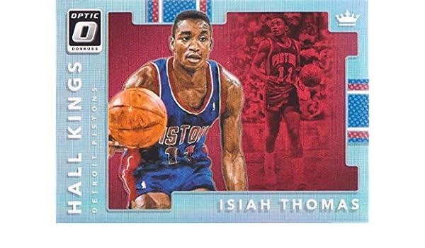2017-18 Donruss Optic Hall Kings #11 Isiah Thomas Detroit Pistons Basketball Card