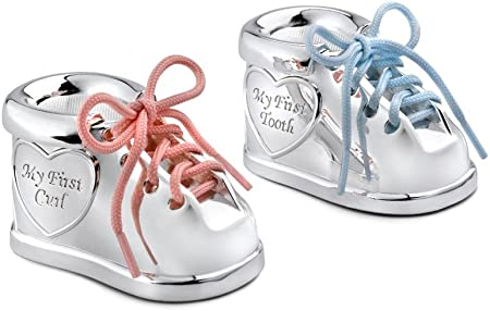 Zilverstad 7276261 - Cajita para Dientes y mechón de Pelo de Zapato con Dos Cordones de Colores