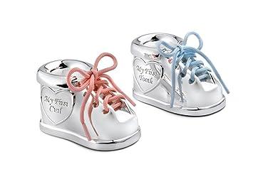 Zilverstad 7276261 - Cajita para dientes y mechón de pelo de Zapato con dos cordones de colores Wa5o7