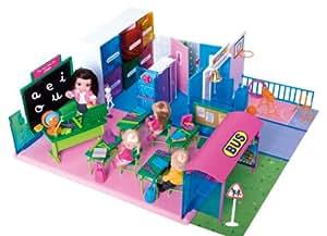 Famosa Los barriguitas El Cole - Escuela de juguete con accesorios y 4 figuras