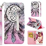Case for Galaxy S7 Edge,Flip Slim 3D Printing PU Leather Kickstand Card Slots Wallet Case with Wrist Strap & Magnetic Closure Inner Soft Shockproof Bumper Compatible with Samsung Galaxy S7 Edge -Net