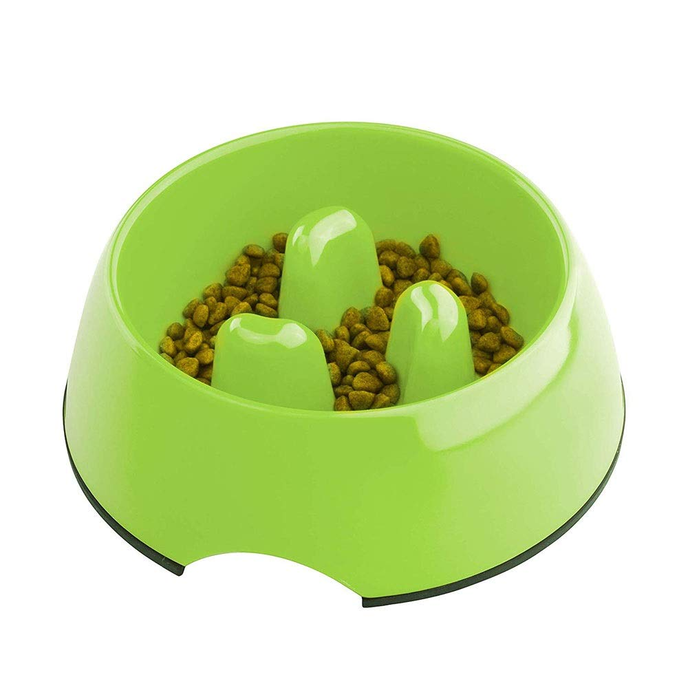 GREEN Xl GREEN Xl SeSDY Pet Bowl Interactive Slow Feeder Dog Fun Foraging Dog Bowl Anti Choking Multiple Colors Safe Environmentally Friendly Non -Toxic (Colore: Verde, Dimensione: XL)