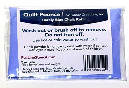 Hancy Mfg Quilt Pounce Refill Chalk Barely Blue2oz