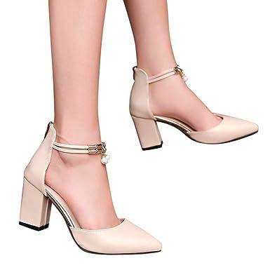 a15dac29662 Amazon.com  Behkiuoda Thick Heel Wedges Sandals
