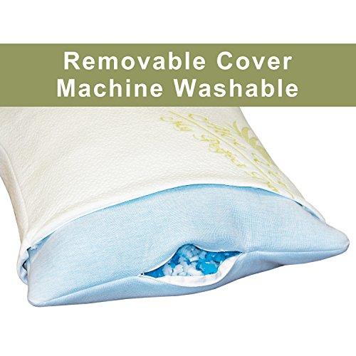 Adjustable bamboo aloe vera shredded memory foam pillow for Better than my pillow