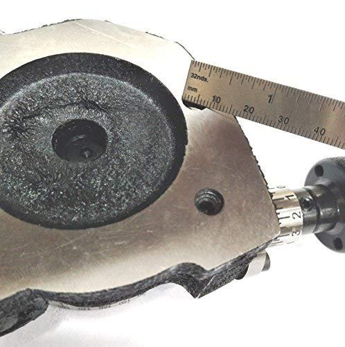 Mesa giratoria peque/ña de 80 mm con 4 mand/íbulas independientes para fresadoras