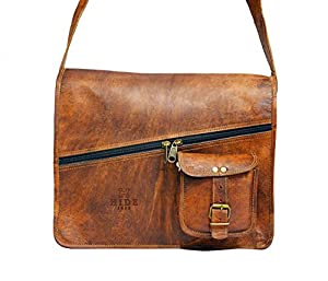 HIDE 1858 TM Style Real Leather Messenger Bag 13""