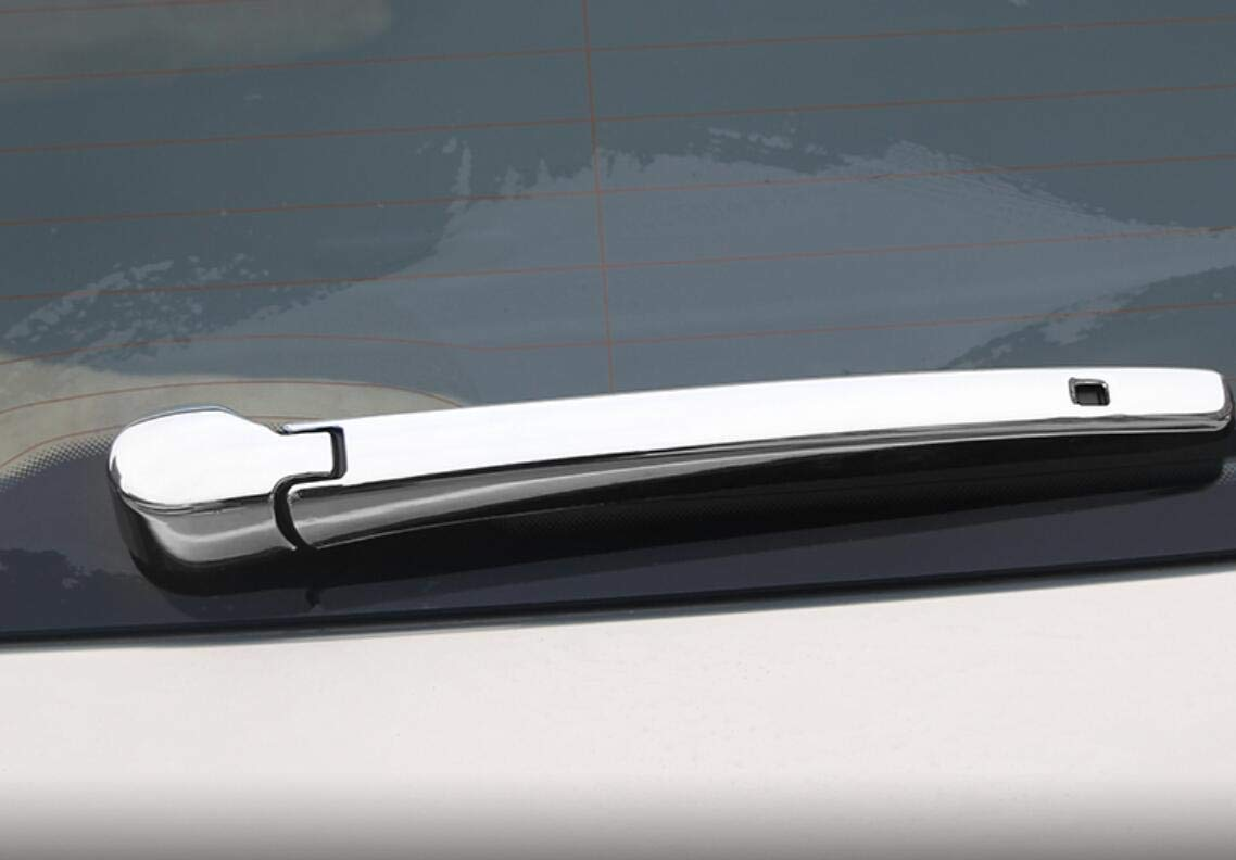 Yingchi Car Silver ABS Chrome Rear Window rain Wiper Blade Cover Trim for VW Volkswagen Atlas 2018 2019 2020