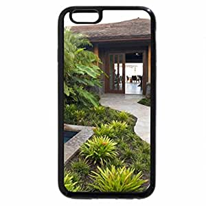 iPhone 6S / iPhone 6 Case (Black) Beautiful Hawaiian Zen Garden with waterfall and Pond Hawaii