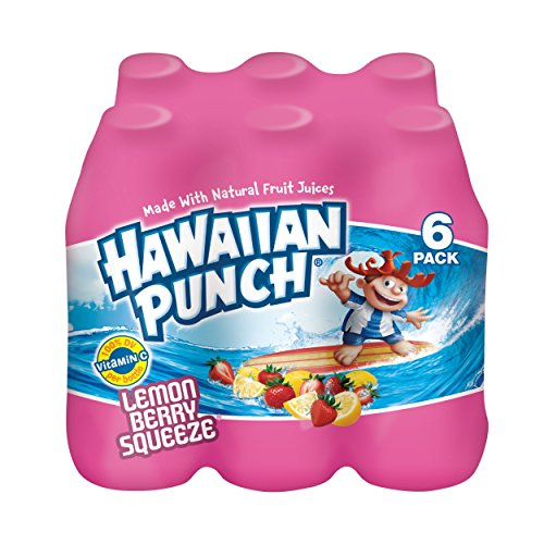 - Hawaiian Punch Lemon Berry Squeeze, 10 fl oz bottles, 6 count (Pack of 4)