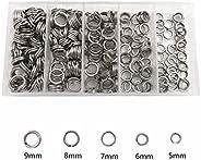 250pcs Stainless Steel Fishing Split Rings Black Nickel High Strength Heavy Duty Fishing Lures Ring Chain Conn