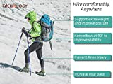 Trekking Poles Collapsible Adjustable 2pc/Set Aluminum...