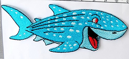 Shark Iron on Patch Embroidered Sewing for T-shirt, Hat, Jean ,Jacket, Backpacks, Clothing Ships and sold from Naree2016. only. Made in Thailand, Buy good quality - In Gucci Toronto