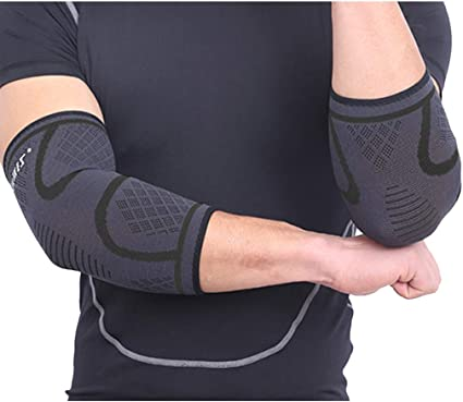 Elbow Sleeve Support Compression Arm Guard Sport Running Brace Wrap Sleeve 1Pair