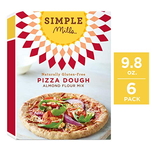 Simple Mills Almond Flour Mix, Pizza Dough, 9.8 Ounce (Pack of 6)