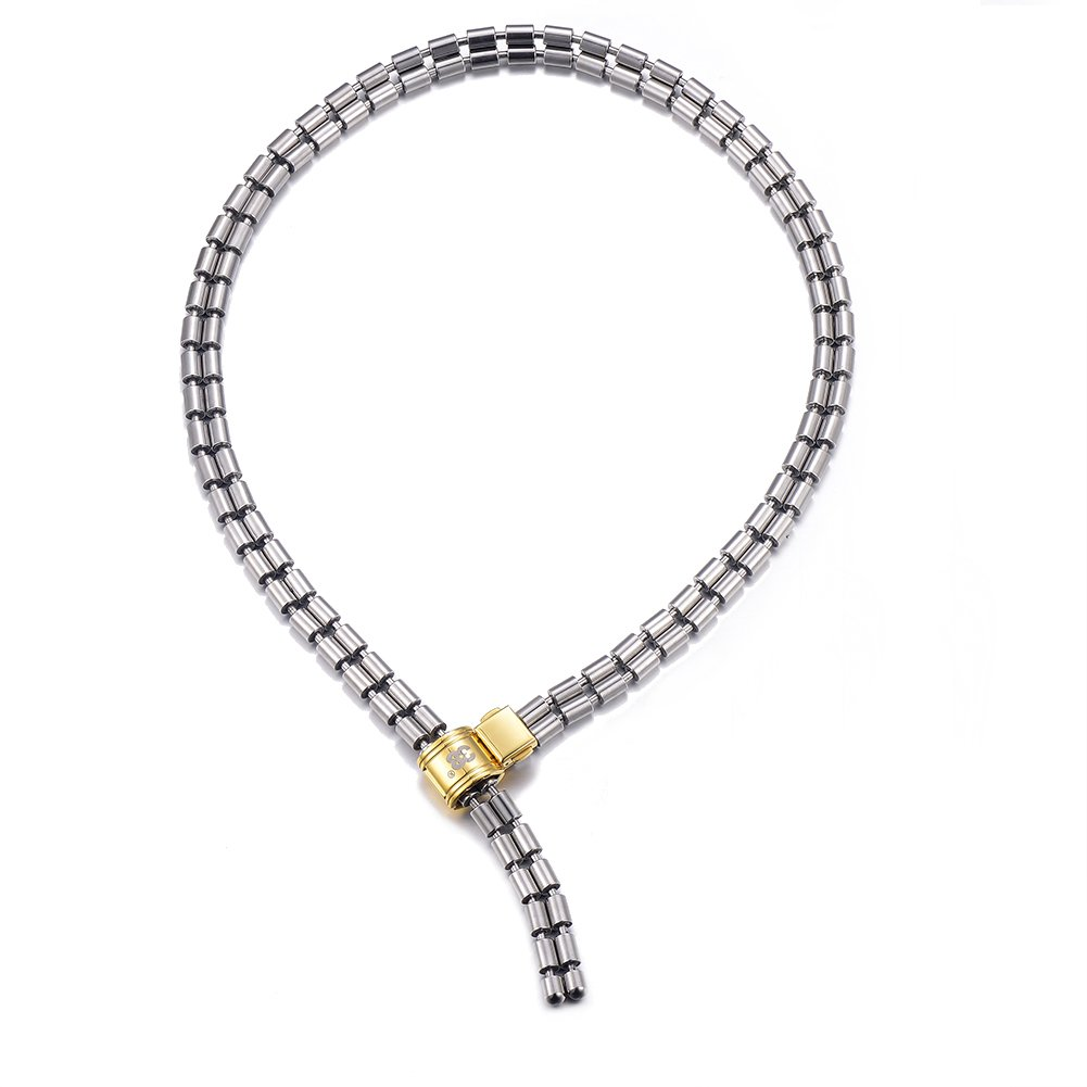 38 Magnetic Therapy Necklace for Enhance Immunity, 316l Stainless Steel Full Magnetiic All-Match Style Fashion Chain