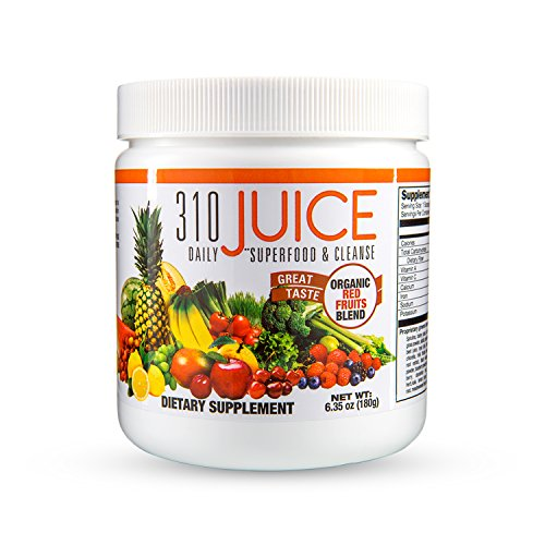 310 Juice | Daily Organic Superfood Powder and Cleanse with Probiotics | Boosts Metabolism | Improves Memory | Natural Juice Cleanse