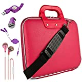 Pink Sidney Travel Bag w/Micro USB Cable & Charger, 2-in-1 3.5mm Headpone Jack Adaper & More For Microsoft Surface Book Surface Pro 4 Surface 10 For Sale