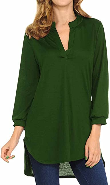 HGWXX7 Womens Plus Size Tops Vintage Floral Print V Neck T Shirts Long Sleeve Tunic Blouse
