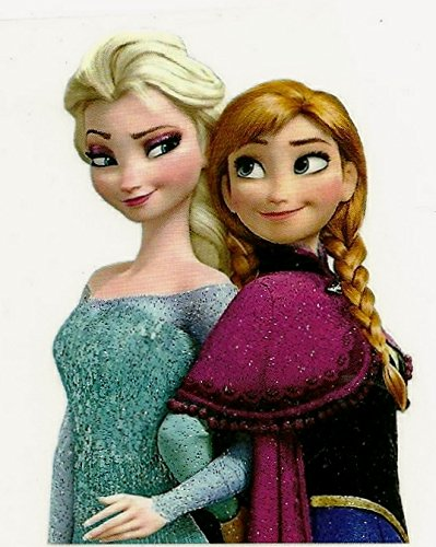 Frozen Sisters Elsa and Anna Small Heat Transfer Iron On