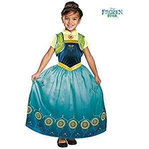 Disguise Anna Frozen Fever Deluxe Costume - 51Y26WK8tZL - Disguise Anna Frozen Fever Deluxe Costume