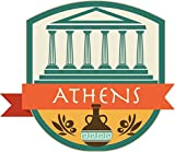 Athens Greece World City Travel Badge Sticker Decal Design 5'' X 4''