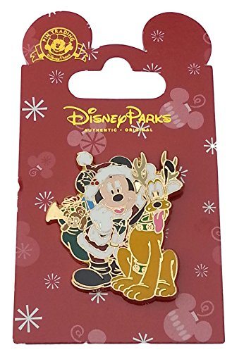 Disney Pin - Mickey and Pluto in Santa and Reindeer Outfits